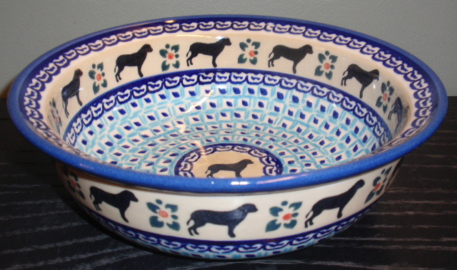 Dog blue Pasta Bowl.JPG